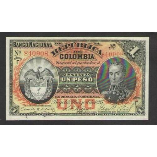 COLOMBIA 1 Peso 1895