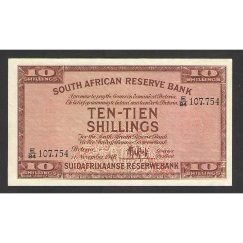 SOUTH AFRICA 10 Shillings 1946