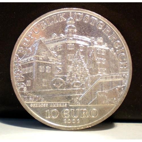 AUSTRIA 10 Euro 2002 Ambras...