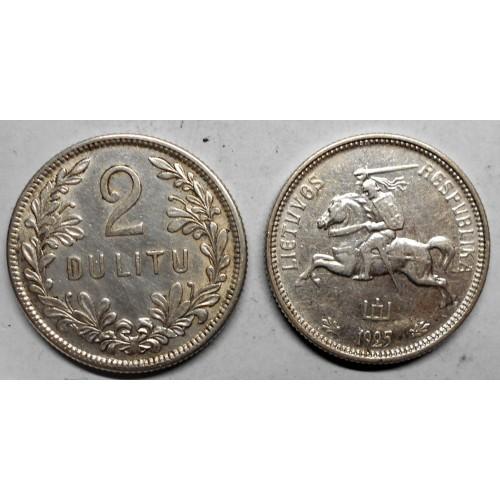LITHUANIA 2 Litu 1925 AG