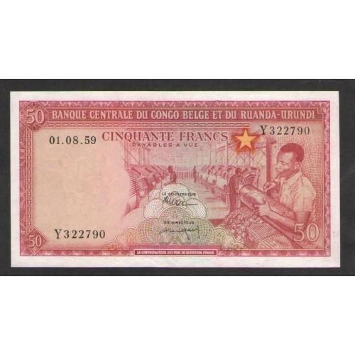 BELGIAN CONGO 50 Francs 1959