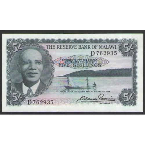 MALAWI 5 Shillings 1964