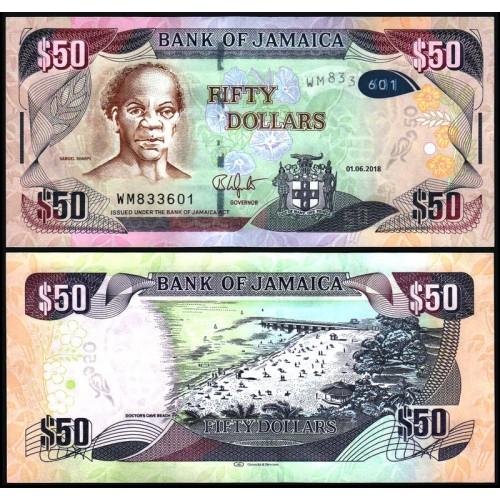 JAMAICA 50 Dollars 2018 Hybrid