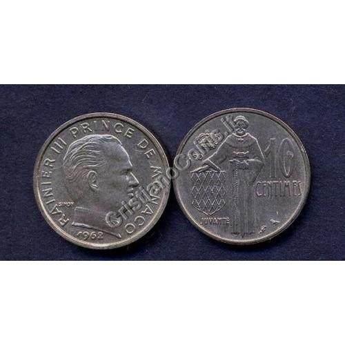MONACO 10 Centimes 1962...