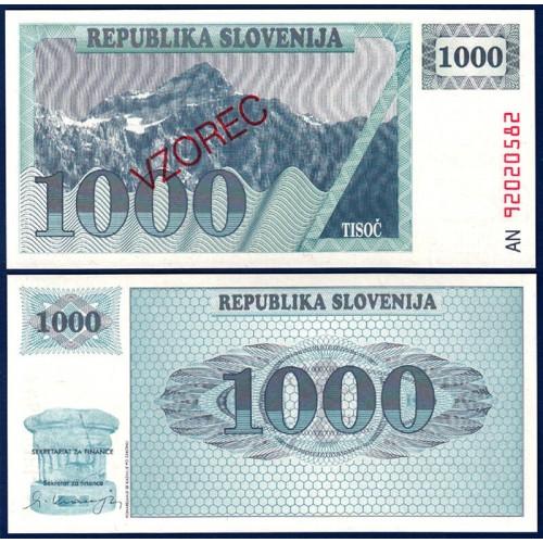 SLOVENIA 1000 Tolarjev 1992...