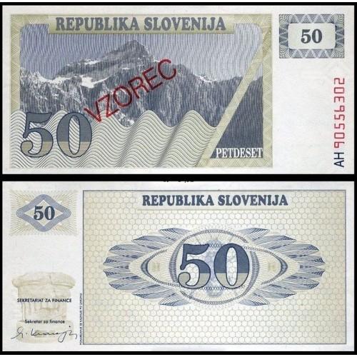 SLOVENIA 50 Tolarjev 1990...