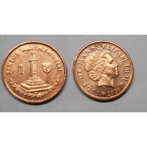 ISLE OF MAN 1 Penny 2016 AA
