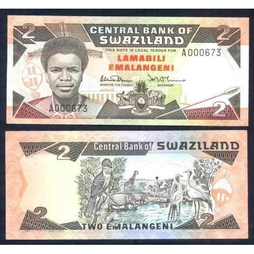 SWAZILAND 2 Emalangeni 1992...