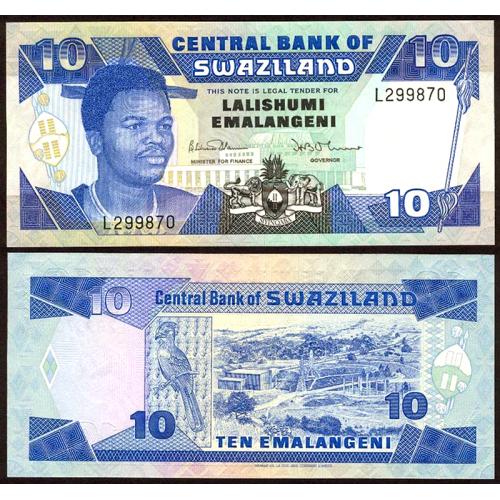 SWAZILAND 10 Emalangeni 1990