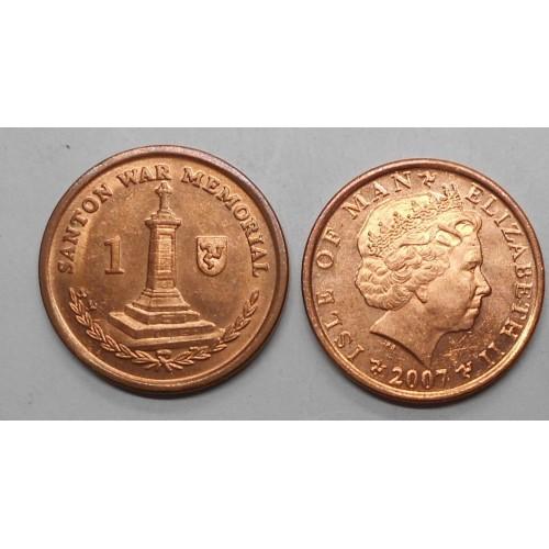 ISLE OF MAN 1 Penny 2007 BA