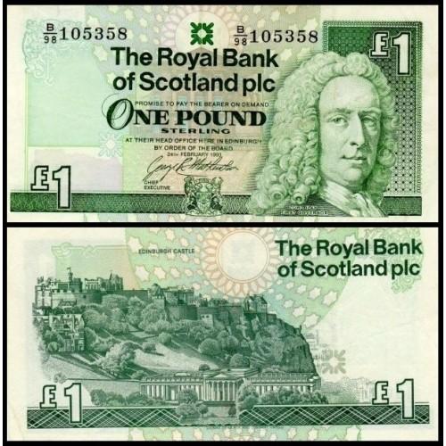 SCOTLAND 1 Pound 1993