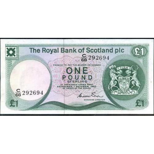 SCOTLAND 1 Pound 1983