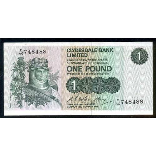 SCOTLAND 1 Pound 1975