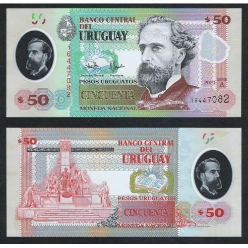 URUGUAY 50 Pesos 2020 Polymer