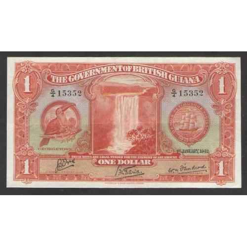 BRITISH GUIANA 1 Dollar 1942