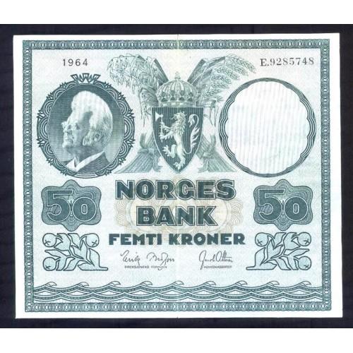 NORWAY 50 Kroner 1964