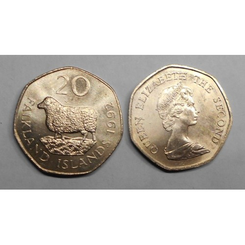 FALKLAND ISLANDS 20 Pence 1992