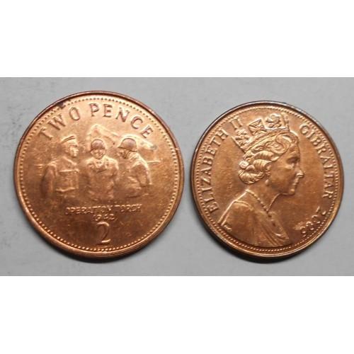 GIBRALTAR 2 Pence 2006...