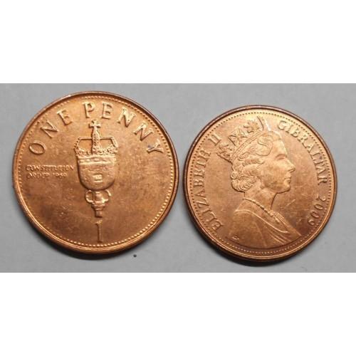 GIBRALTAR 1 Penny 2009