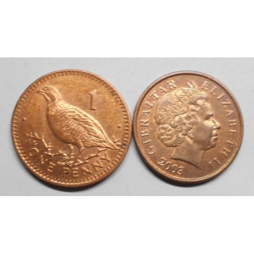 GIBRALTAR 1 Penny 2003 AA