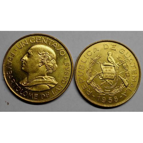 GUATEMALA 1 Centavo 1958