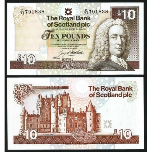 SCOTLAND 10 Pounds 1994