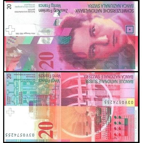 SWITZERLAND 20 Franken 2003