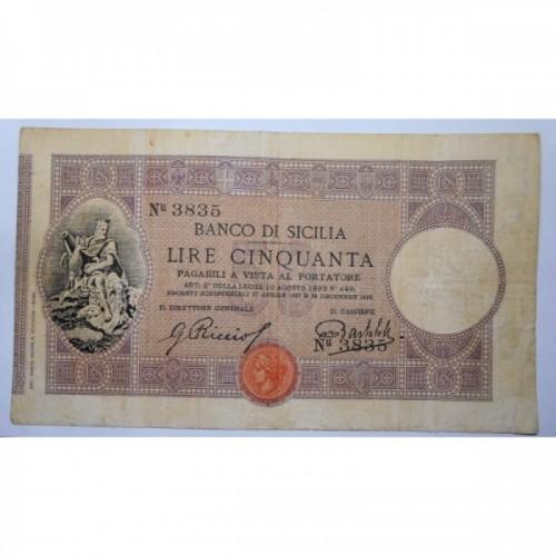 BANCO DI SICILIA 50 Lire...
