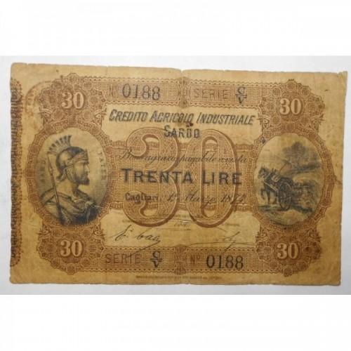 30 LIRE 1874 CREDITO...