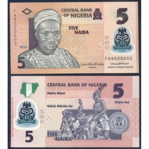 NIGERIA 5 Naira 2020 Polymer