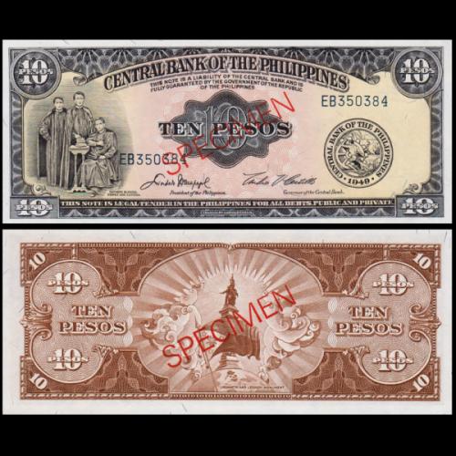 PHILIPPINES 10 Pesos 1949...
