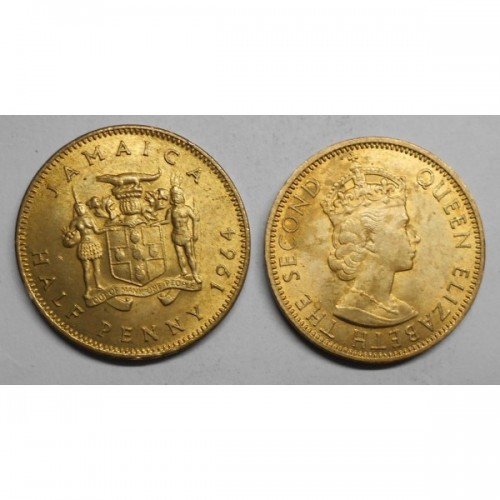 JAMAICA 1/2 Penny 1964