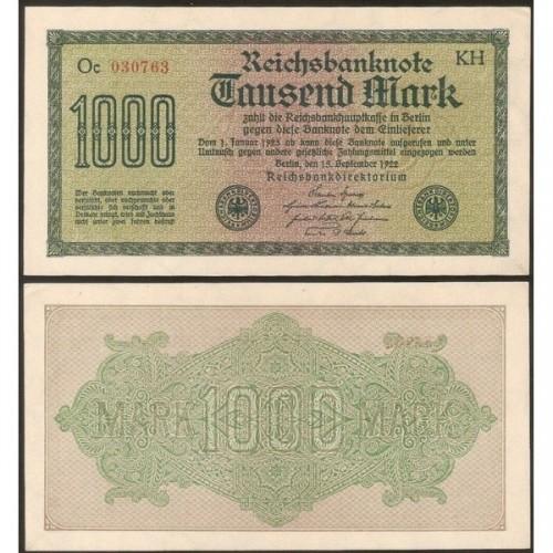 GERMANY 1000 Mark 1922