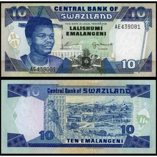 SWAZILAND 10 Emalangeni 1995