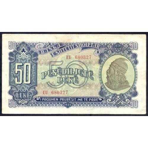 ALBANIA 50 Leke 1949