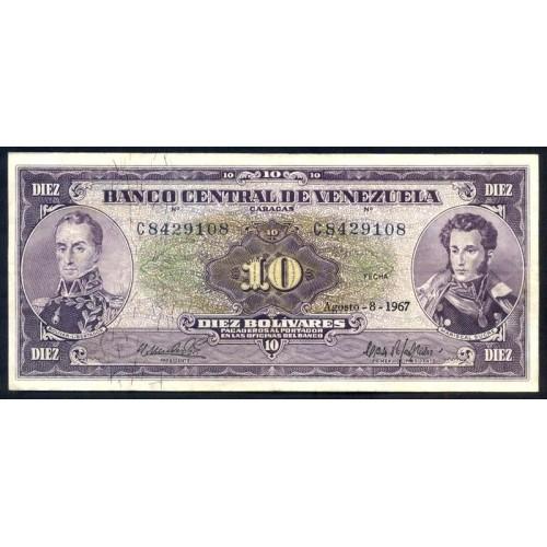 VENEZUELA 10 Bolivares 1967