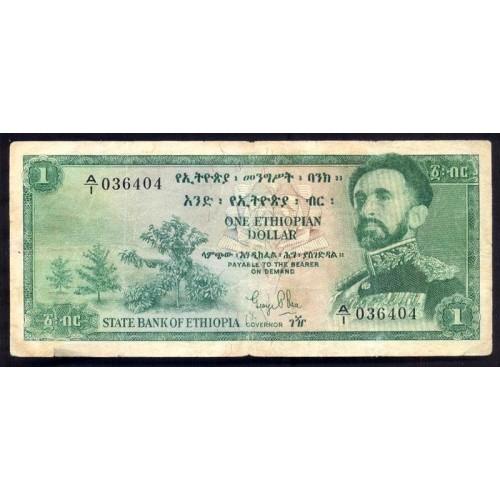 ETHIOPIA 1 Dollar 1961
