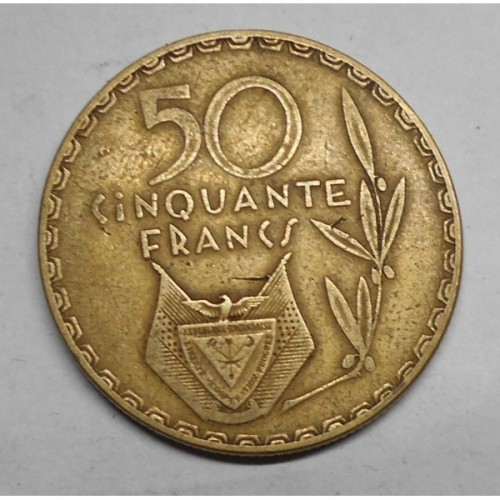 RWANDA 50 Francs 1977