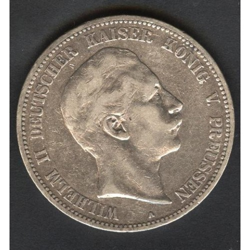 PRUSSIA 5 Mark 1904 Wilhelm...