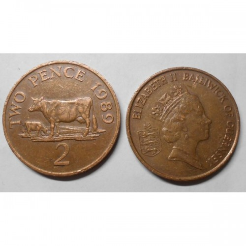 GUERNSEY 2 Pence 1989