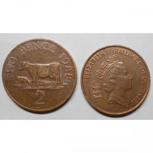 GUERNSEY 2 Pence 1988