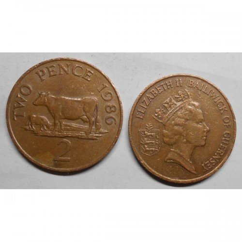 GUERNSEY 2 Pence 1986
