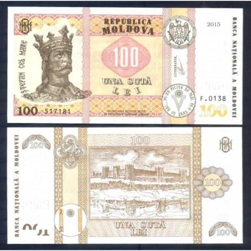 MOLDOVA 100 Lei 2015 (2020)