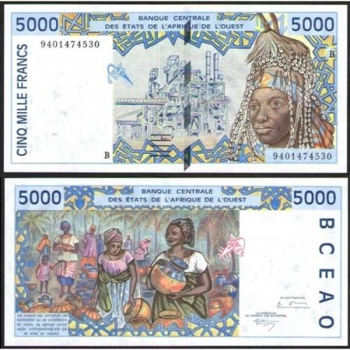 BENIN (W.A.S.) 5000 Francs...