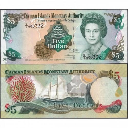 CAYMAN ISLANDS 5 Dollars...