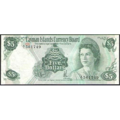 CAYMAN ISLANDS 5 Dollars 1974
