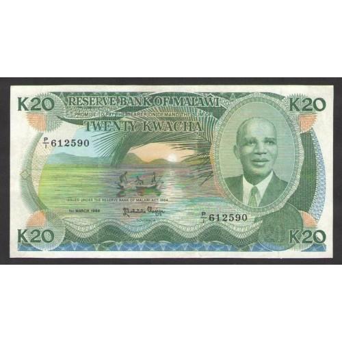 MALAWI 20 Kwacha 1986