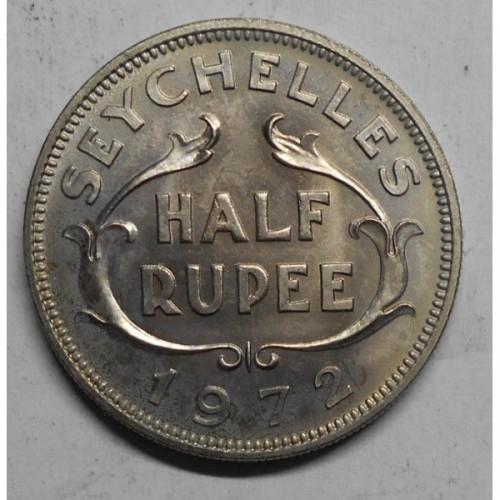 SEYCHELLES 1/2 Rupee 1972