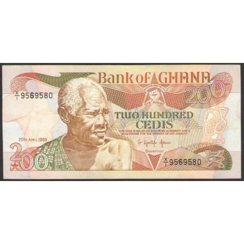 GHANA 200 Cedis 1989
