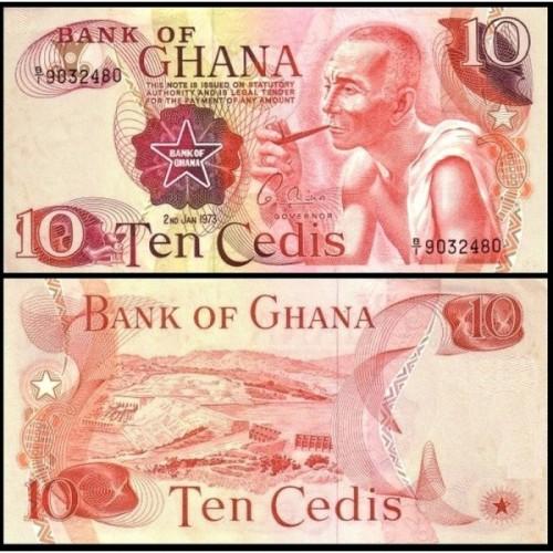GHANA 10 Cedis 1973